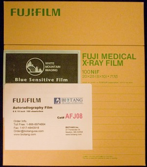 Fujifilm* AUTORADIOGRAPHY FILM, 8 X 10'', 100 sheets